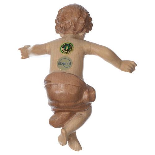 Gesù Bambino legno Valgardena fin. Multipatinata 5
