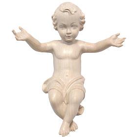 Gesù Bambino legno Valgardena fin. Naturale cerata s1