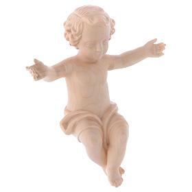 Gesù Bambino legno Valgardena fin. Naturale cerata s3