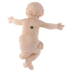Gesù Bambino legno Valgardena fin. Naturale cerata s4