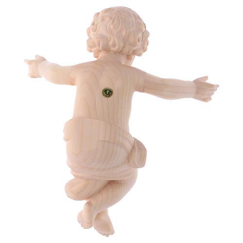 Gesù Bambino legno Valgardena fin. Naturale cerata 4