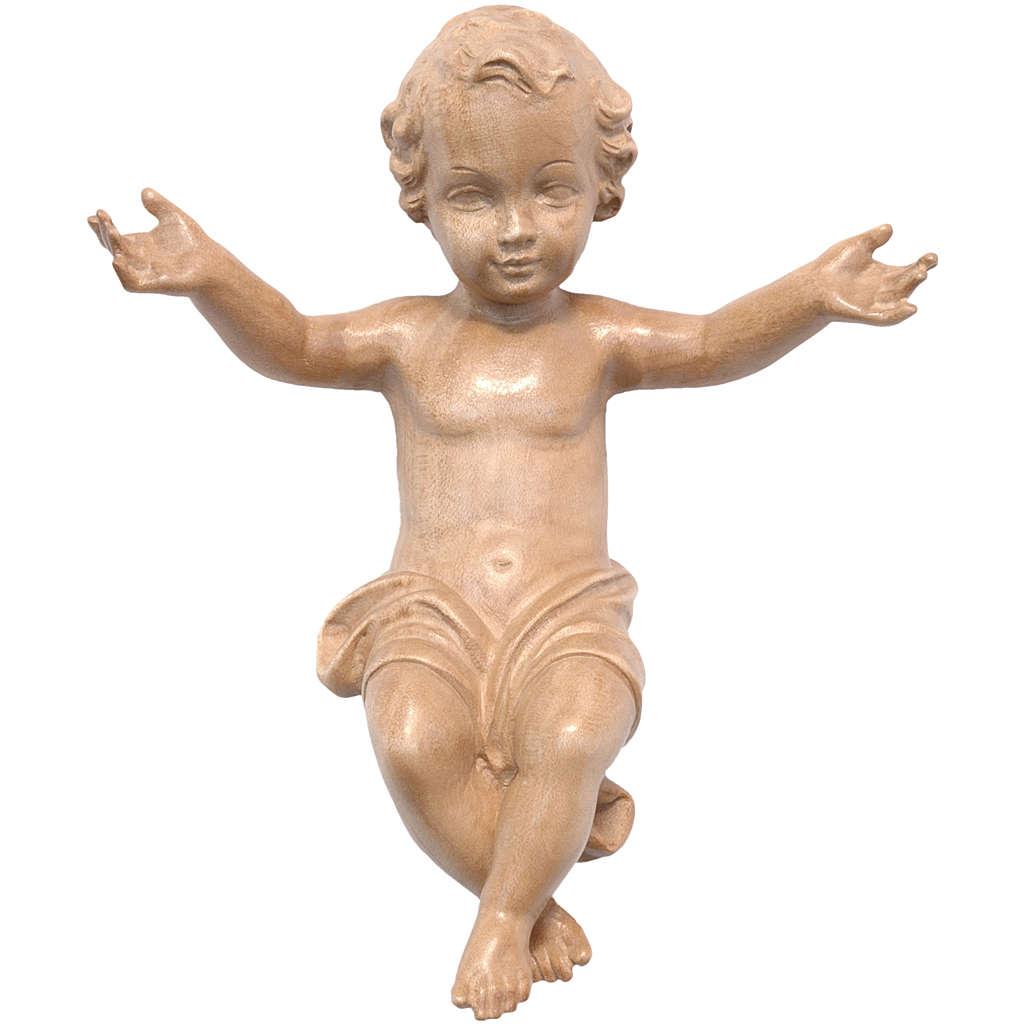 Gesù Bambino legno Valgardena fin. Patinata 3