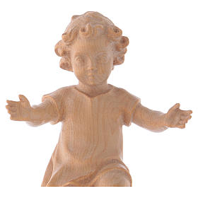 Baby Jesus with clothes in Valgardena wood, natural wax finish s2