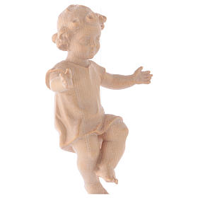 Baby Jesus with clothes in Valgardena wood, natural wax finish s3