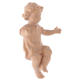 Baby Jesus with clothes in Valgardena wood, natural wax finish s4