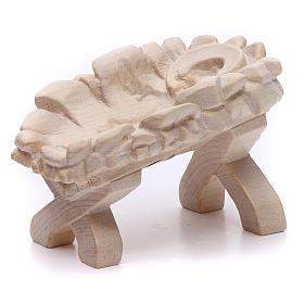 Culla Gesù Bambino 7cm legno Valgardena naturale cerato s2