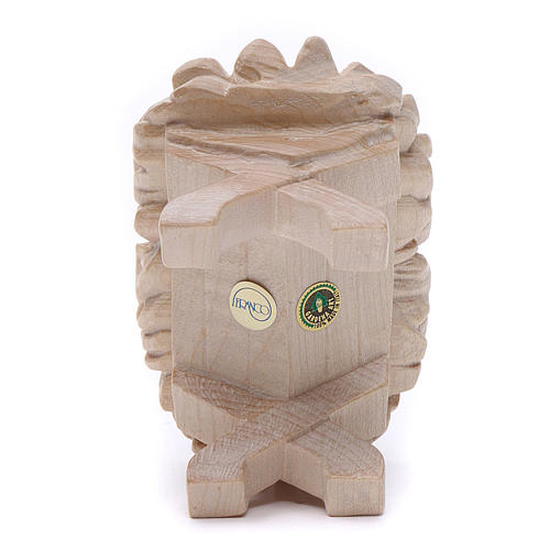 Culla Gesù Bambino 7cm legno Valgardena naturale cerato 4