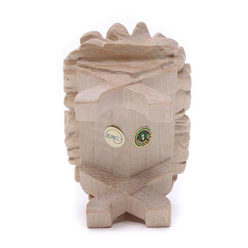 Baby Jesus cradle, 7cm in Valgardena wood, natural wax finish 4