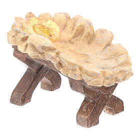 Baby Jesus cradle in Valgardena wood, old antique gold finish s4