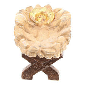 Culla Gesù Bambino legno Valgardena Old Antico Gold s2