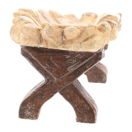 Culla Gesù Bambino legno Valgardena Old Antico Gold 5