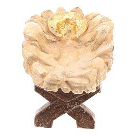 Kołyska Dzieciątka Jezus drewno Valgardena Old Antico Gold s2