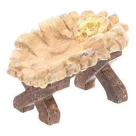 Kołyska Dzieciątka Jezus drewno Valgardena Old Antico Gold s3