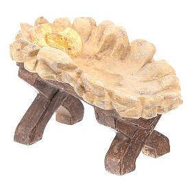 Kołyska Dzieciątka Jezus drewno Valgardena Old Antico Gold s4
