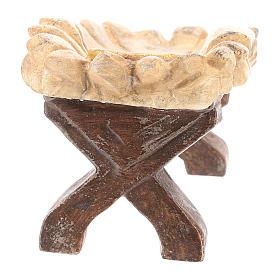 Kołyska Dzieciątka Jezus drewno Valgardena Old Antico Gold s5