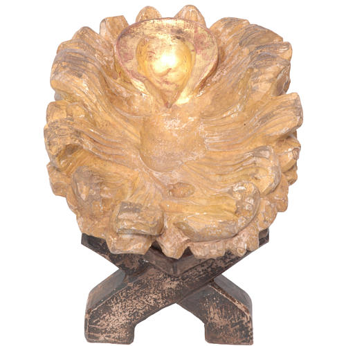 Kołyska Dzieciątka Jezus drewno Valgardena Old Antico Gold 1