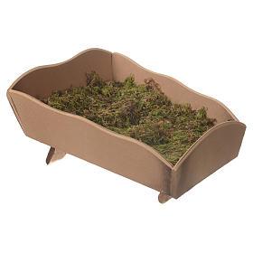 Manjedoura madeira musgo para Menino 85 cm Fontanini s2