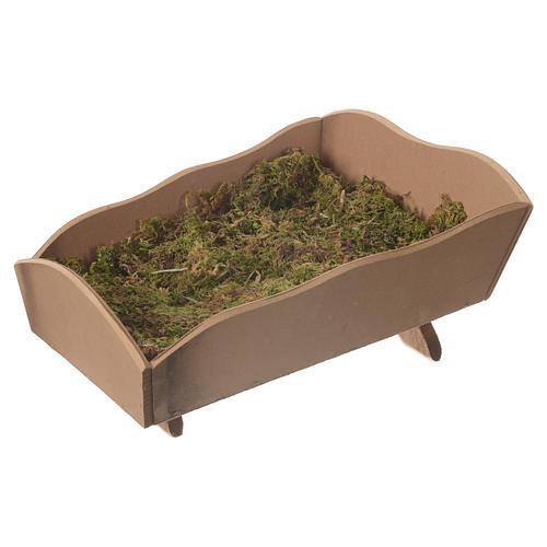 Manjedoura madeira musgo para Menino 85 cm Fontanini 1