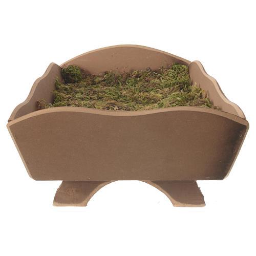 Manjedoura madeira musgo para Menino 85 cm Fontanini 3
