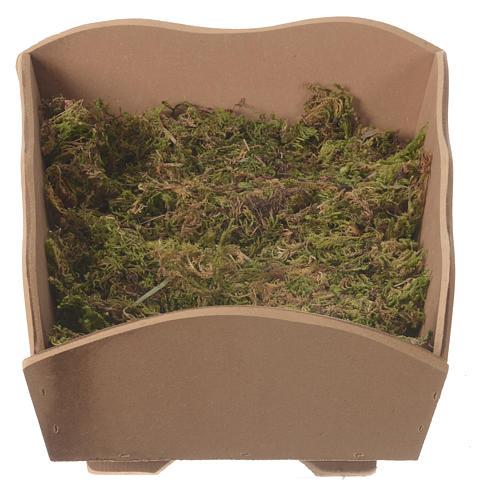 Manjedoura madeira musgo para Menino 85 cm Fontanini 4