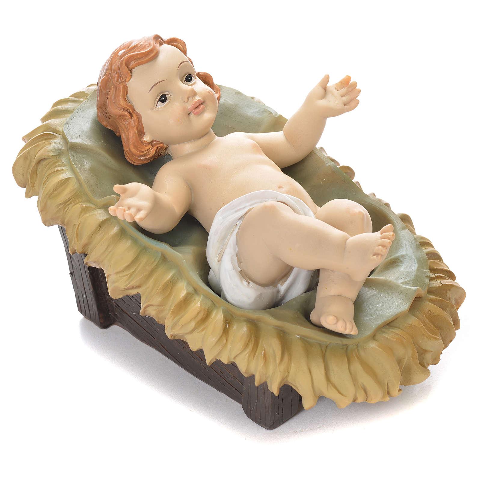 Enfant Jésus 15 cm résine colorée 3