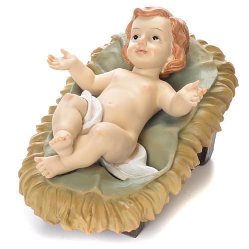 Enfant Jésus 15 cm résine colorée 1