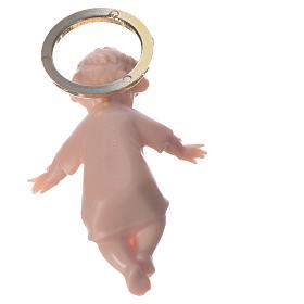Gesù bambino 5 cm plastica aureola dorata s4