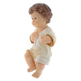 Menino Jesus em resina para presépio com figuras 34 cm altura média s2