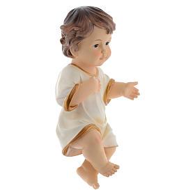 Menino Jesus em resina para presépio com figuras 34 cm altura média s3