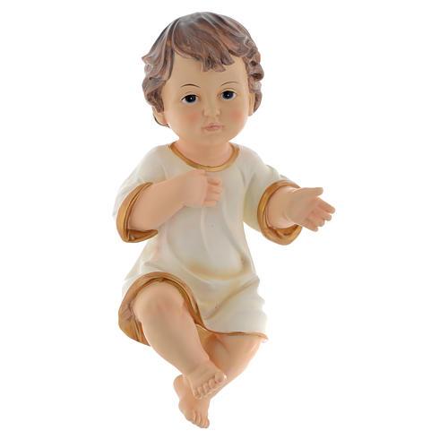 Menino Jesus em resina para presépio com figuras 34 cm altura média 1