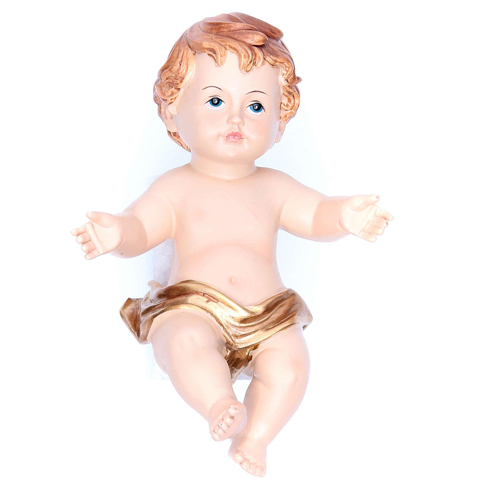 Baby Jesus figurine in resin measuring 15cm 3
