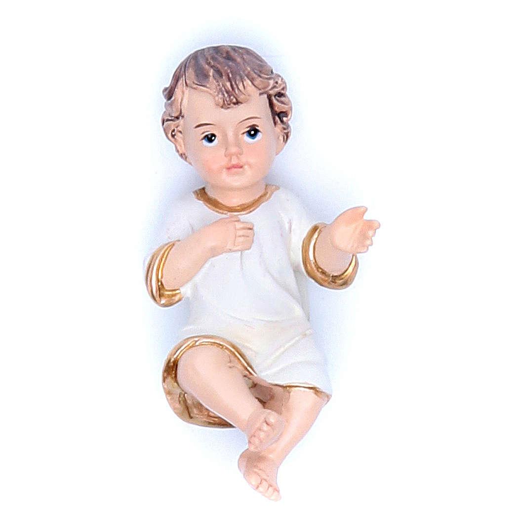 Baby Jesus figurine in resin measuring 6.5cm 3
