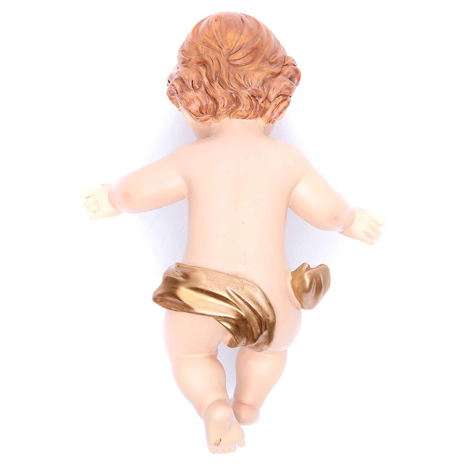 Baby Jesus figurine in resin measuring 28cm 3