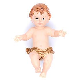 Baby Jesus figurine in resin measuring 28cm s1