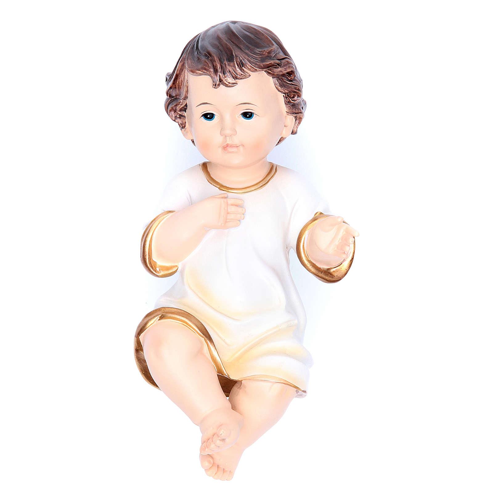 Estatua vestida Niño Jesús 21 cm resina 3
