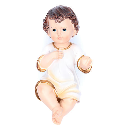 Santon Enfant Jésus tunique 21 cm résine 1