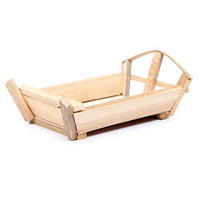 Nativity accessory, cradle in wood for Baby Jesus 10x22x13cm s1