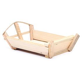 Berceau en bois 10x22x13 cm pour Enfant Jésus s2