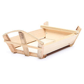 Nativity accessory, cradle in wood for Baby Jesus 10x22x13cm s3