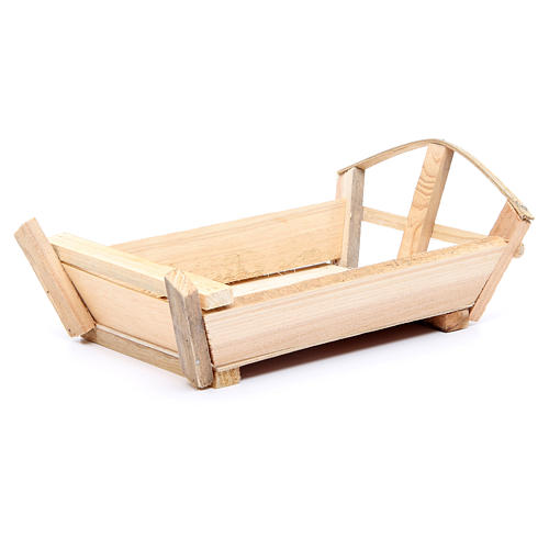Nativity accessory, cradle in wood for Baby Jesus 10x22x13cm 1