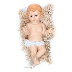 Gesù Bambino statuina poliresina dipinta cm 31 s1
