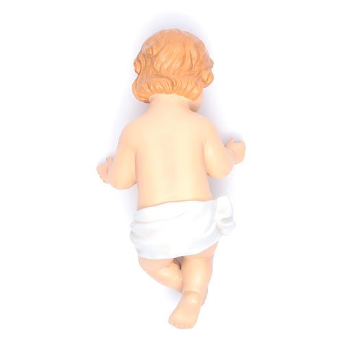 Gesù Bambino statuina poliresina dipinta cm 31 3