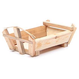 Cuna de madera 9x18x12 cm para Niño Jesús s2