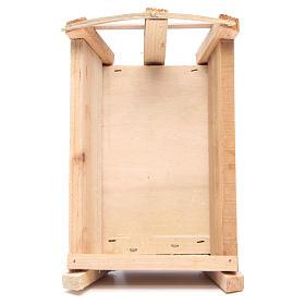 Cuna de madera 9x18x12 cm para Niño Jesús s3