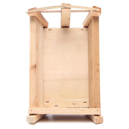 Culla in legno 9x18x12 cm per Gesù Bambino 3