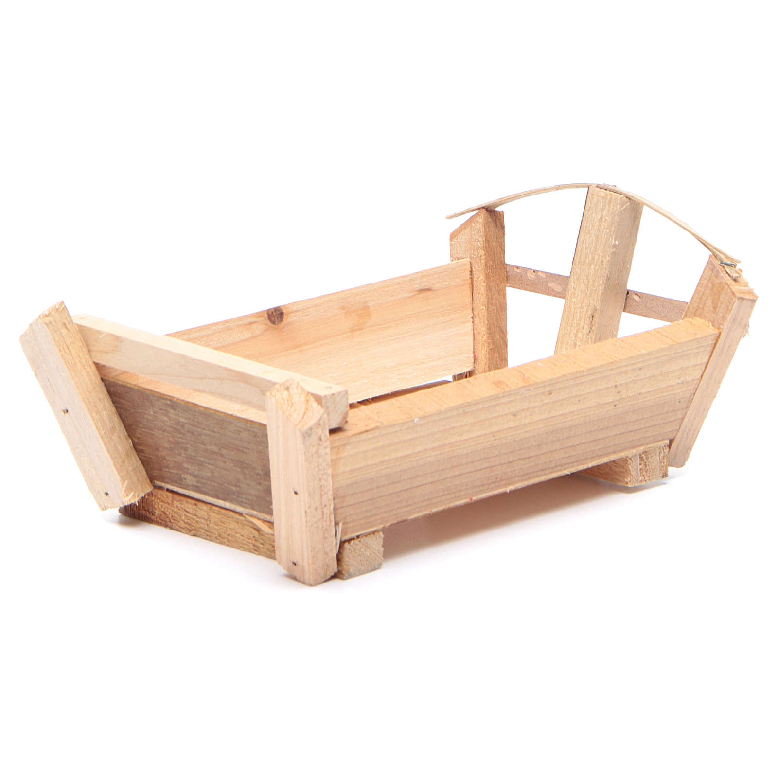 Nativity accessory, cradle in wood for Baby Jesus 9x18x12cm 3