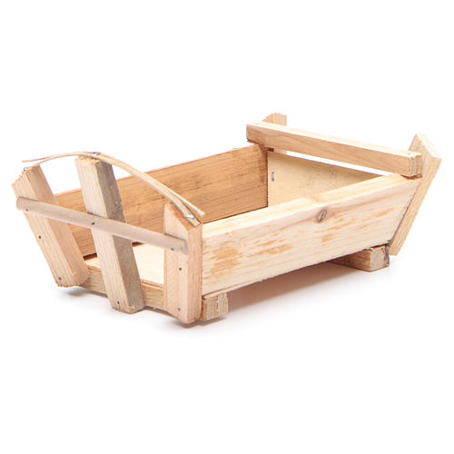 Nativity accessory, cradle in wood for Baby Jesus 9x18x12cm 2