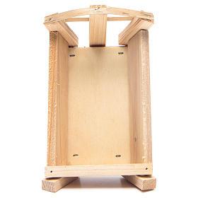 Culla in legno 8x14x9 cm per Gesù Bambino s3