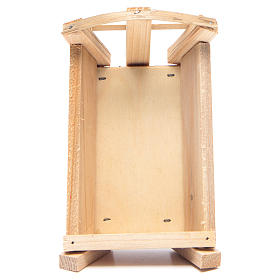 Nativity accessory, cradle in wood for Baby Jesus 8x14x9cm s3