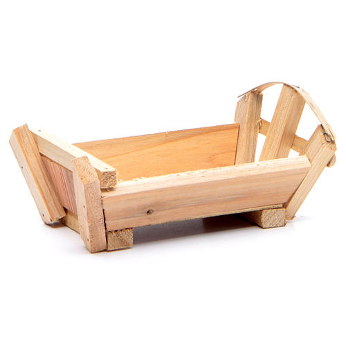 Nativity accessory, cradle in wood for Baby Jesus 8x14x9cm 1